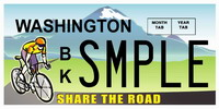 Share the Road License Plates available NOW!  $28 from each plate goes to Bicycle Advocacy. Click here to find out how to order yours!